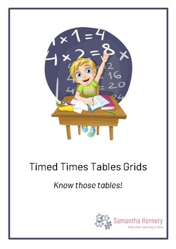 Times Tables Recall Grids