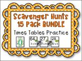 Beginning Multiplication Scavenger Hunt 15-Pack