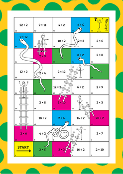 Times tables snakes and ladders by engaging education for 10 in 1 games table australia