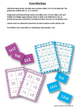 Times Tables Teaching Activity Pack
