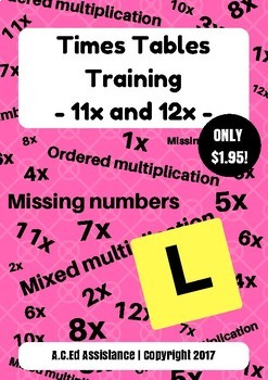 Times Tables Training - 11x and 12x