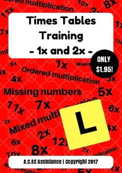 Times Tables Training - 1x and 2x