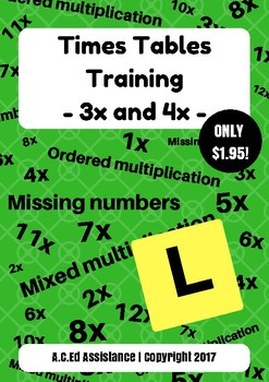 Times Tables Training - 3x and 4x