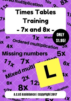 Times Tables Training - 7x and 8x