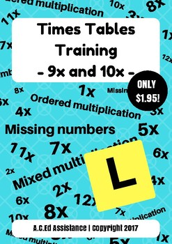 Times Tables Training - 9x and 10x
