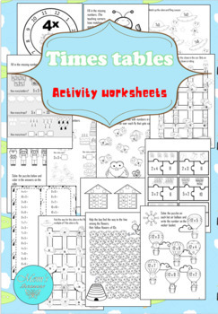 Times Tables activity worksheets - Multiplication