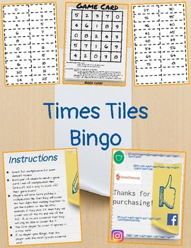 Times Tiles Bingo (Multiplication/Division Review)