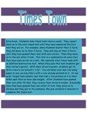 Times Town - 0-12 Multiplication Facts Timed Tests