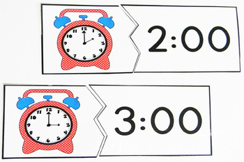 Time's Up! Puzzles for telling time from hour to 5 minutes