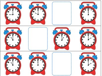 Time's Up! Time Order Cards for telling time from hour to 5 minutes