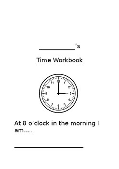 Times of the Day Workbook for Early Years