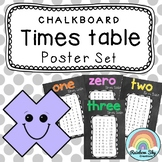 Times table Posters - Multiplication Posters {Chalkboard theme}