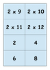 Times table pairs matching game
