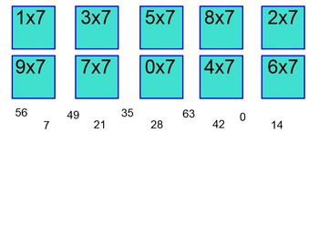 Times tables 1 to 9 interactive