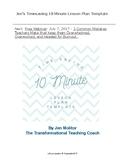 Timesaving Ten Minute Lesson Plan Template!