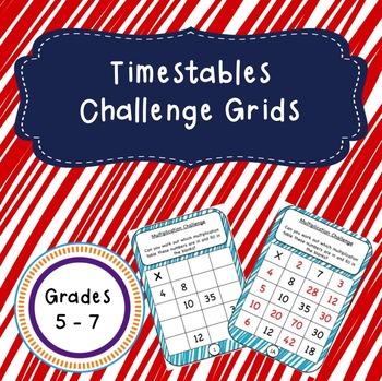 Multiplication Challenge Grids