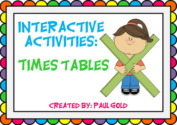 Times Tables Interactive Notebook