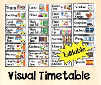 Timetable - Editable