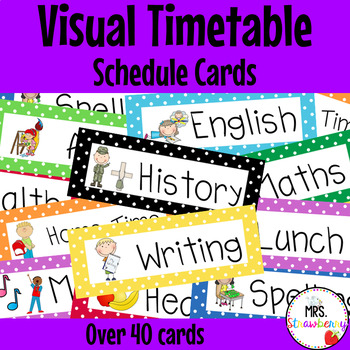 Visual Timetable Schedule Cards