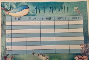 Timetable Templates - Bundle