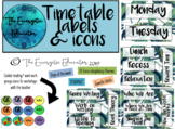 Timetable labels & icons