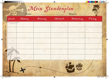 Timetable_Piraten-Stundenplan in Deutsch