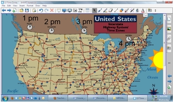 Timezones on Smartboard for Earth Science Regents Class