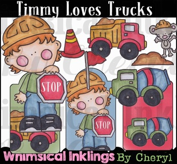 Timmy Loves Trucks Clipart Collection