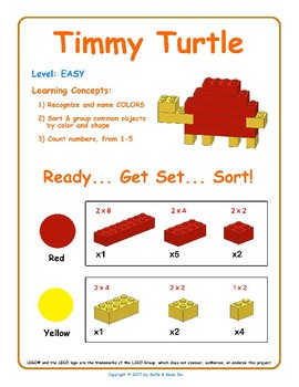 Timmy Turtle - Brick Building Kit Instruction