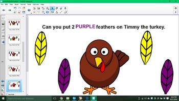 Timmy the turkey SMARTboard activity!!!