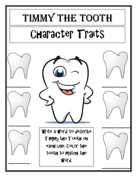 Timmy's Big Adventure Dental Health Story with Reader Response Sheets