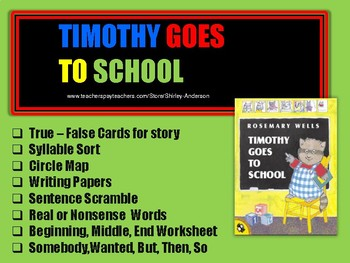 Timothy Goes to School Week (Back to School)