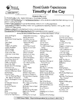 Timothy of the Cay Literature Guide