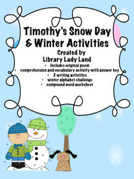 Timothy's Snow Day Winter Activities