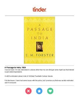 Tinder Bios for Selected British Novels