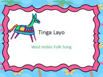 Tinga Layo - a Caribbean folk song for practicing Mi So La