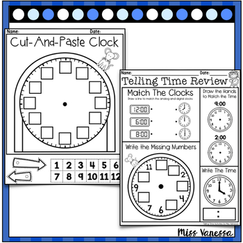 Cut & Paste Clock ~ An Open-Ended Printable for Practice Telling Time