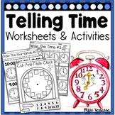 Telling Time By The Hour Worksheets Distance Learning