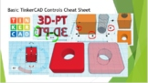 Basic TinkerCAD Controls Cheat Sheet Distance Learning