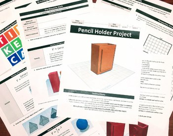 TinkerCAD: Pencil Holder Project (Volume/Scale Factor)-7th/8th Grade (STEAM)