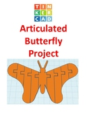 TinkerCAD step-by-step instructions for Articulated Butterfly