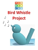TinkerCAD step-by-step instructions for Bird Whistle