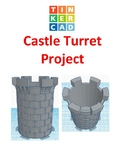 TinkerCAD step-by-step instructions for Castle Turret