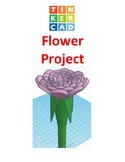 TinkerCAD step-by-step instructions for Flower