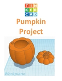 TinkerCAD step-by-step instructions for Pumpkin for Halloween