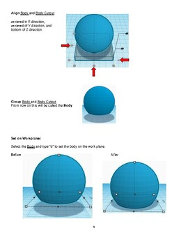 TinkerCAD step-by-step instructions for Snowman