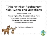 TinkerWinker Restaurant Menu