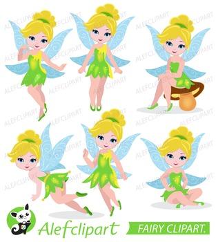 Tinkerbell Clipart, Fairy Digital Clipart, Fairy Clipart