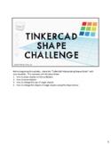 Tinkercad Shape Challenge Teacher Notes