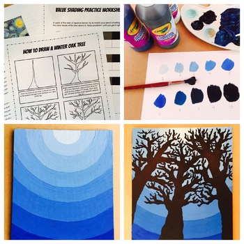 Tint and Shade Night Sky Lesson Plan